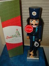 "NEW  POLICE OFFICER & K9 DOG PARTNER NUTCRACKER POLICEMAN 14"" TALL COP BOBBY"