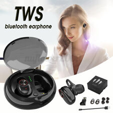 Tws bluetooth 5.0 Wireless Earbuds Earphone Noise Cancelling w/Charging Box