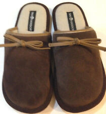"""Slippers womens size 5-6M new Sag Harbor leather upper fabric 8 3/4"""" insole"""
