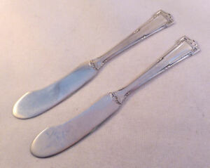 DAUPHINE- WALLACE 2 STERLING FH BUTTER SPREADERS