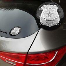 Premium Heavy Duty Round 3M Custom Flat Window Sticker - Motor Police PD W2