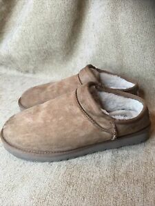 Ugg 1009249 Classic Water Resistant Brown Hard Sole Slipper Shoes Women's US 10