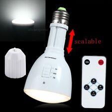 E27 Energy Saving Rechargeable White LED Emergency Camping Hunting Light Bulb #U