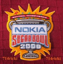 2000 BCS Sugar Bowl National Championship Game Patch Florida State Virginia Tech