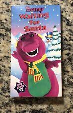 Barney Waiting For Santa Sing-Along (1990, VHS) The Purple Dinosaur -