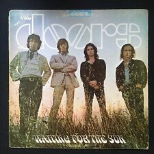"""THE DOORS Waiting For The Sun LARGE """"E"""" ELEKTRA Silver Text STEREO UK VINYL LP"""