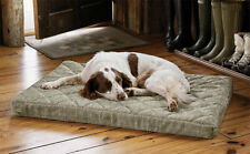 Orvis Memory Foam Platform Dog Bed MEDIUM Cozy Chevron Green Mat Washable Lounge