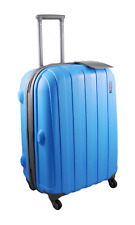 """Blue Luggage 56cm (22"""") Suitcase Small Lightweight Hard Shell 4 Spinner Wheels"""