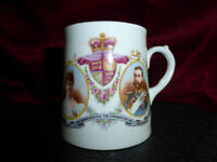 Antique King George V + Queen Mary CORONATION COMMEMORATIVE CUP 1911 Royal #2