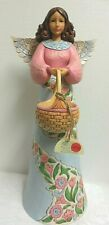 """Jim Shore 20"""" Garden Angel """"ANGEL WITH BASKET"""" STATUE #6001600 (2017) NWT F/S"""