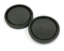 Camera Body Cap + Rear Lens Cap for Sony E Mount NEX-5T 6 A7 II A7R A5100 A6000
