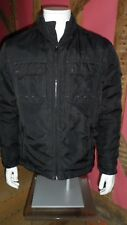 Medium Size Black  Quilted Zip Front Bomber jacket by Esprit