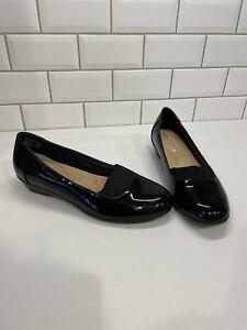 Target Black Patent Comfort Shoes sz 9.5