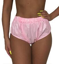 vollverschweißte PVC Windelhose rosa Lackoptik Windelslip Gummihose Adult Baby