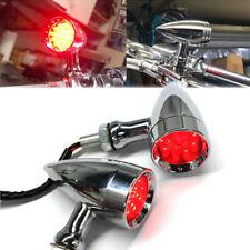 2pcs Chrome Bullet Motorcycle Led Turn Signal Blinker Lights For Harley Davidson