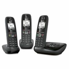 Gigaset AS470A Trio DECT-Telefon Schwarz Anrufer-Identifikation - Plug-Type C (E