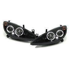 Peugeot 307 (2001-2005) Black Halo Angel Eye Projector Front Headlights - Pair