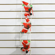 1Pc Santa Lovely Climbing On Rope Ladder Indoor/Outdoor Christmas Decor Tool HOT