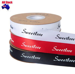 25MM Gift Wrapping Sweetlove Printed  Wedding Party Xmas Gift wrapping Ribbon