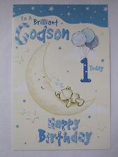 Merveilleux coloré brillant filleul 1 today 1ST anniversaire carte de vœux