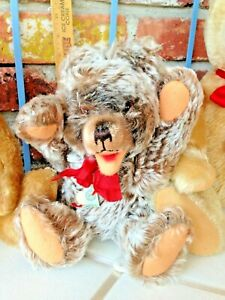 Vintage Germany Hermann Teddy - A Jointed Zotty Type Baby Bear!