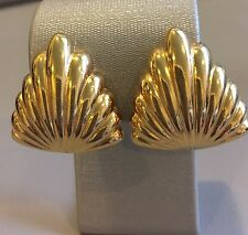 SAINT LAURENT- with YSL logo - PARIS  DESIGNER !!! CLIP EARRINGS