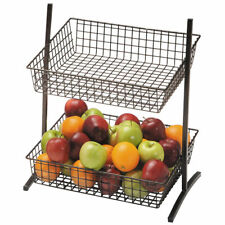 Countertop Merchandising Stand 2-Tier Stand Espresso Wire - 16 1/2 L x 13 1/4 W