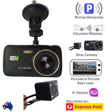 "Dash Cam Dual Camera rearview recorder incar DVR video G-sensor 1080P 4"" LCD HD"