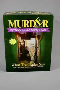 Murder Alacarte Mystery Dinner Party Game What The Butler Saw Vintage