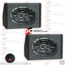 "KICKER DS 6"" x 9"" 3-WAY CAR AUDIO SPEAKERS 360W PLUS 2 x ANGLED SPEAKER BOXES"