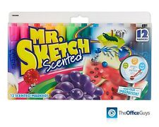 Sanford Mr Sketch Scented Assorted Markers Pk12 (S20072) AU