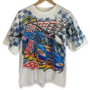 VTG Dale Jarrett Full Print Shirt Double Sided US Air Force Nascar 2000 Sz Large