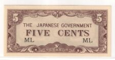 5 Cents Malaya Japanese Invasion Money (JIM) , block ML (UNC)