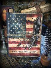 Primitive American Flag George Washington Colonial Journal Cupboard Tuck
