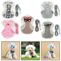 Lace Dog Harness Leash Set Soft Mesh Pet Puppy Vest Lead For Small Medium Dog