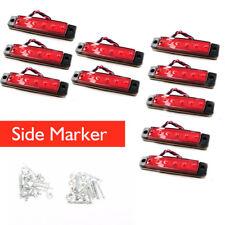 10PCS 12v 6LED Side Marker Light for Truck Trailer Indicator Signal Bulb Red New