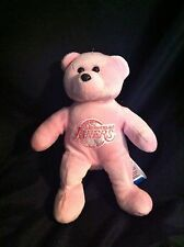 """FOREVER LOS ANGELES LAKERS pink Plush Bear 7"""""""