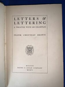 Frank Chouteau Brown-LETTERS & LETTERING A TREATISE WITH 200 EXAMPLES 1902 5th