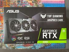 ASUS Video card  TUF RTX 3060-O12G-GAMING GDDR6 OC