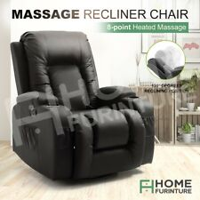 Electric Massage Chair Recliner Sofa Rocking Heated Seat 360° Swivel Armchair BK