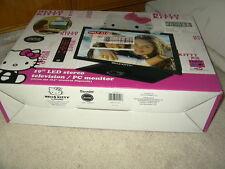 """new Hello Kitty 19"""" LED Stereo TV PC Monitor HD ready 1366 x 768"""