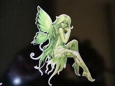 "Fairy Stickers Fairies Decals X 2 Facing 4"" Disney Type Pixies Wall Art Green"