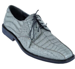 Men's Los Altos Genuine Caiman Belly Bicycle Toe Derby Shoes Lace Up