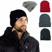 Mens Thermal Baggy Beanie slouchy winter Fleece lined Hat Skull Men Women Cap