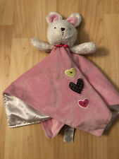 Carters Just One You Heart Pink Bunny Rabbit Plush Lovie Security Blanket Rattle