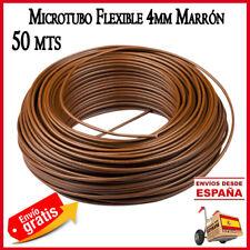 Microtubo 4mm Tuberia goteo polietileno tubo riego macetas 50 mt agricola marron
