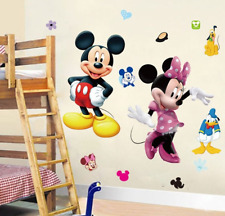 Minnie Mikey Mouse 3D Wall Stickers Cartoon TV Hero Sticker Bedroom Mice Poster