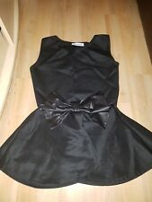 peplum style t shirt with leather bow detailing very stylish size 6/8