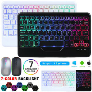 """RGB Backlit Keyboard+Mouse For iPad 9.7"""" 5th 6th/10.2"""" 7th 8th Gen Air 2 3 4 Pro"""