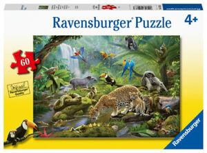 Ravensburger Puzzle 60pc Rainforest Animals 5166-3